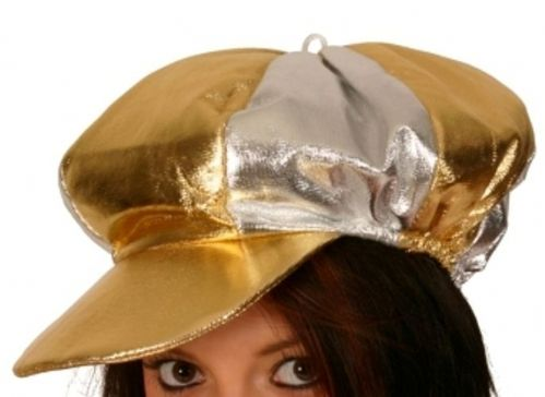 Jockey Hat Metallic Silver Gold Hat Horse Riding Sport
